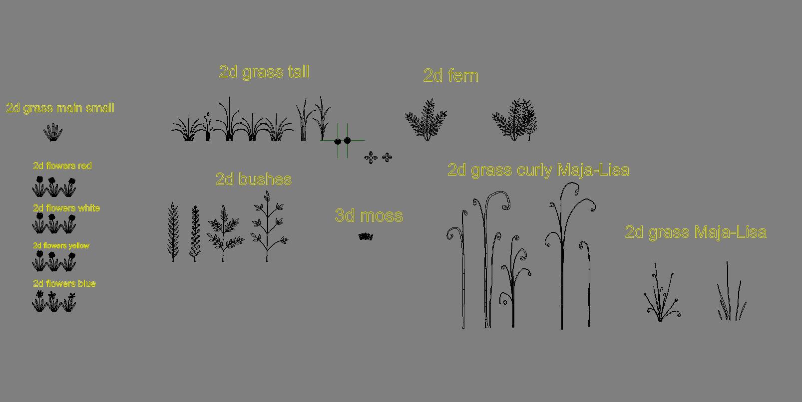 simple models of plants