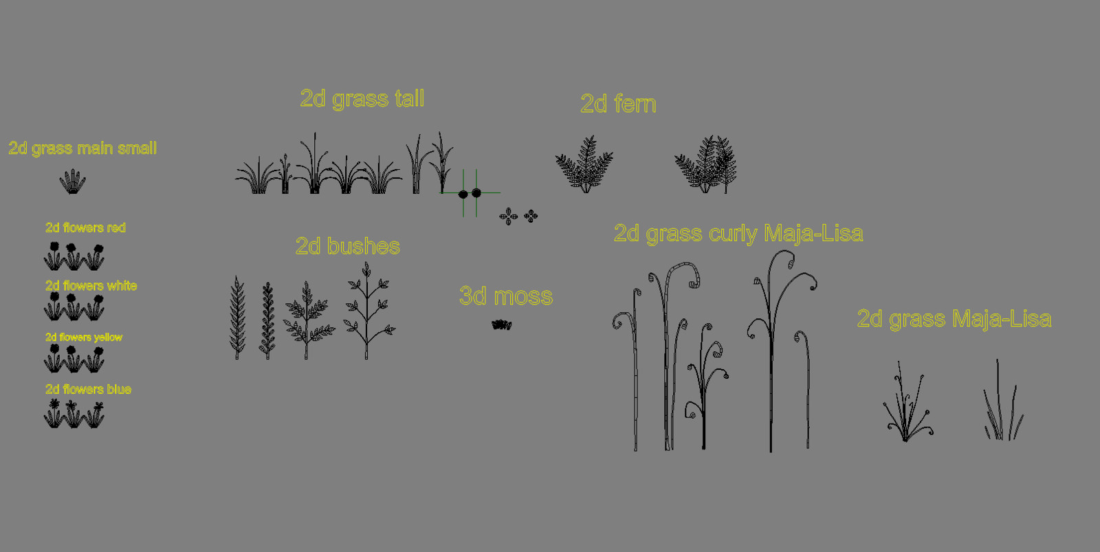 simple models of plants