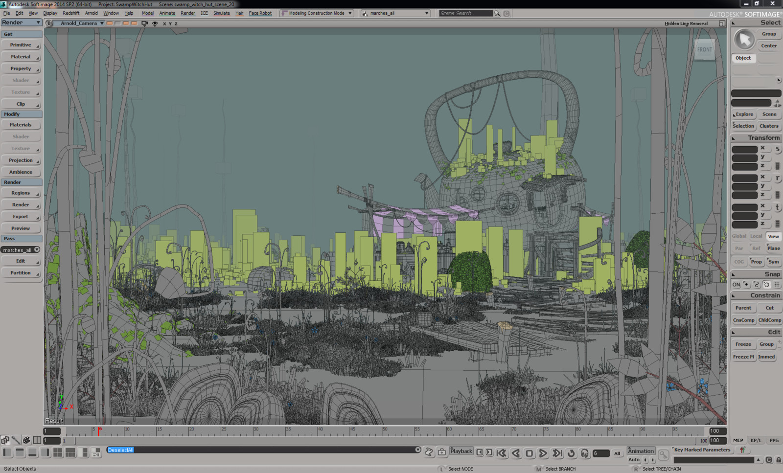whole scene in Softimage