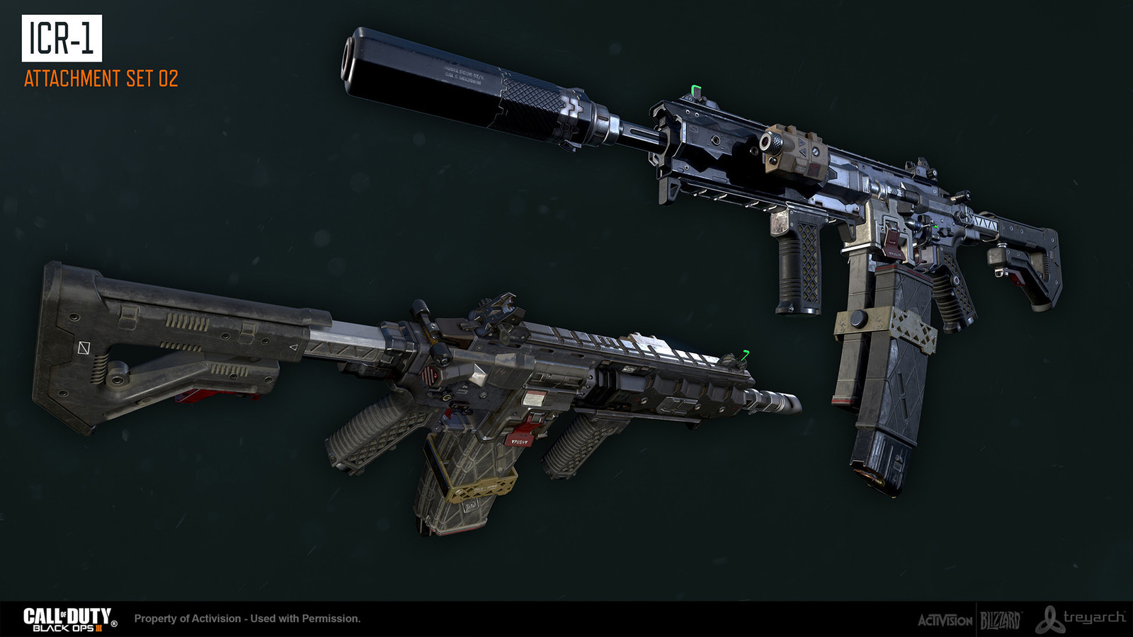 Additional modeling attachment support by Nathaniel Jorgenson. Base gun and textures by Ethan Hiley