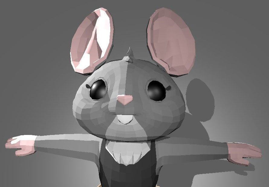 early model, before rigging