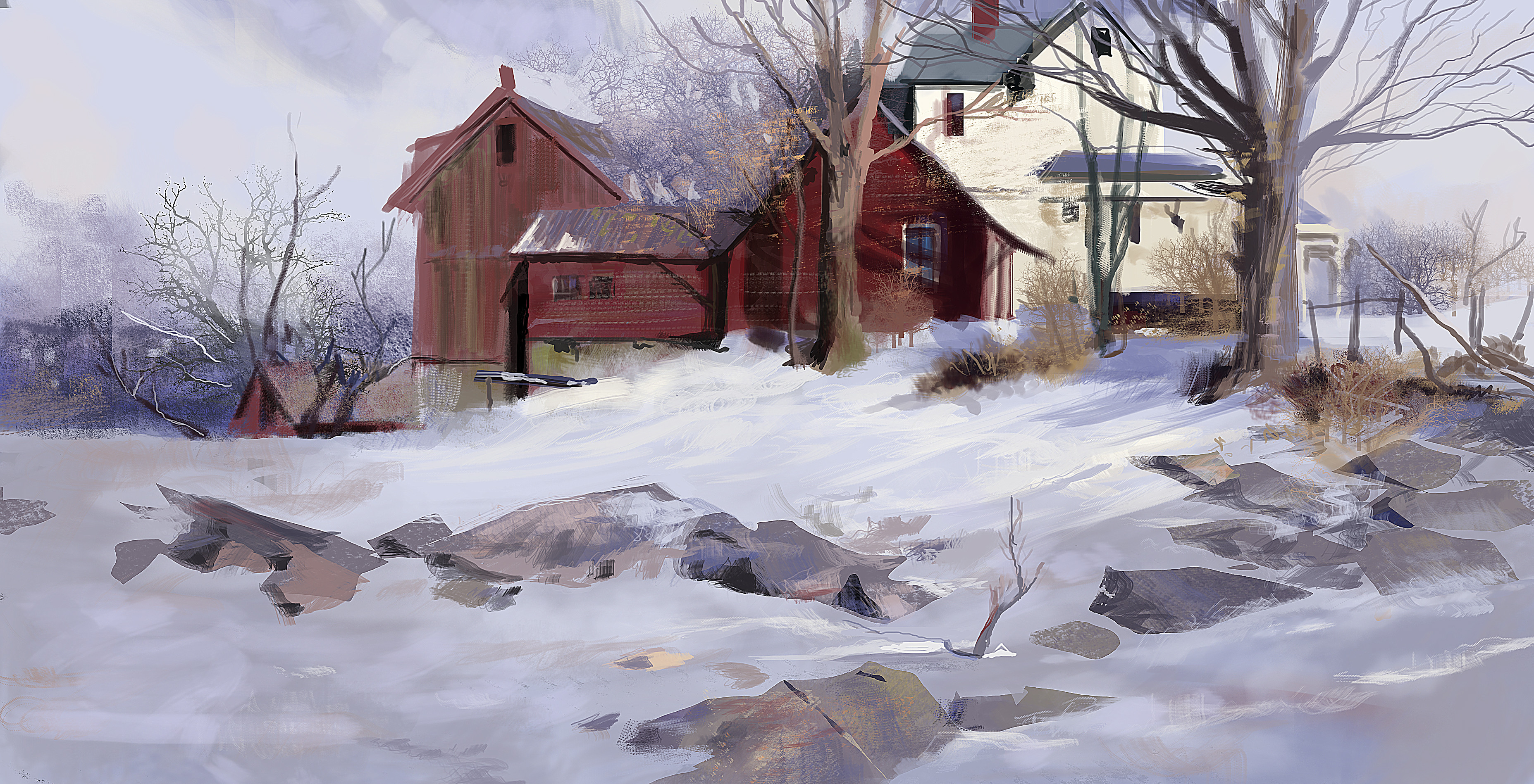 Study on Richard Schmid painting. Very nice exercise