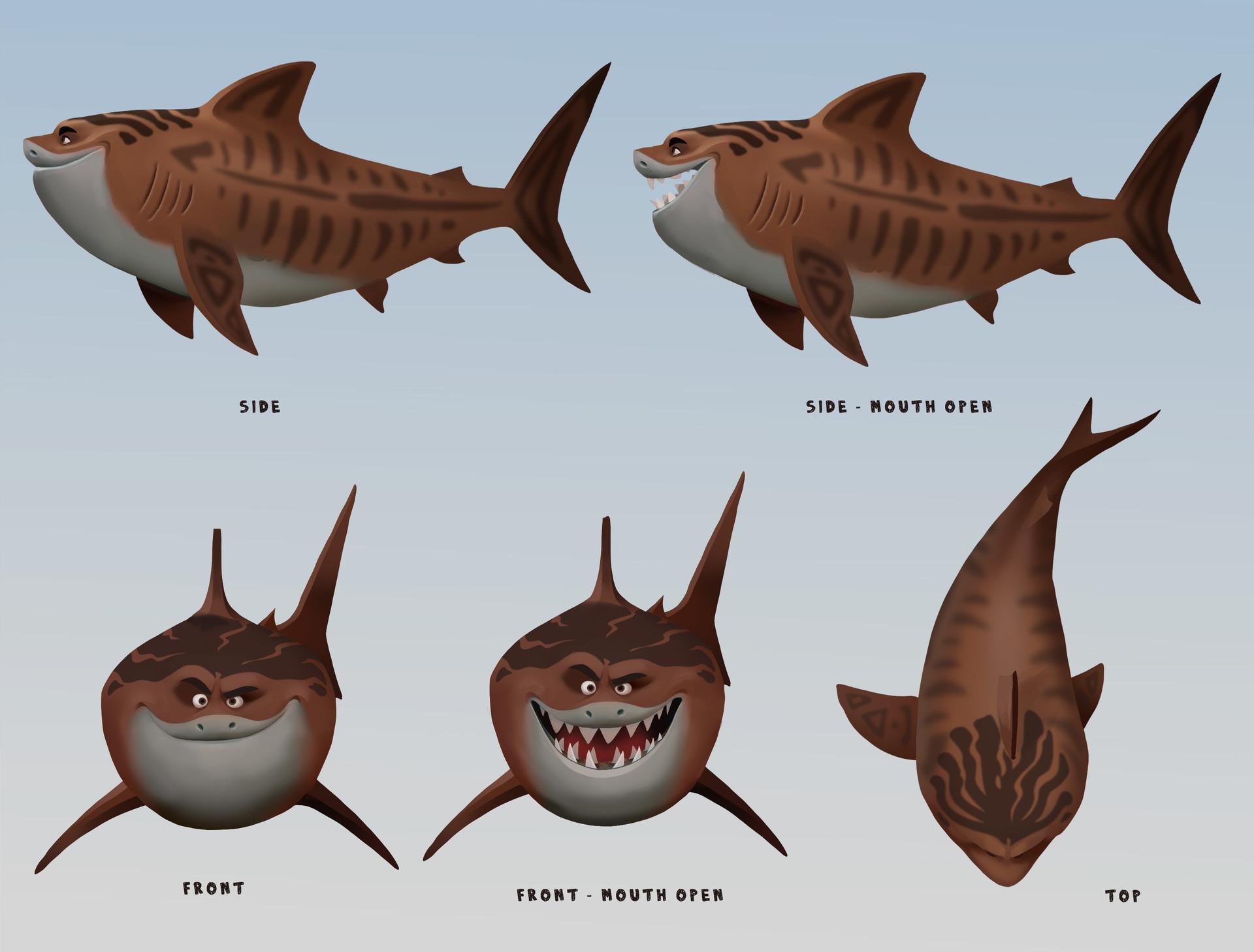 moana wildlife and animal characters jenny harder maui shark transformations based on the wda concepts