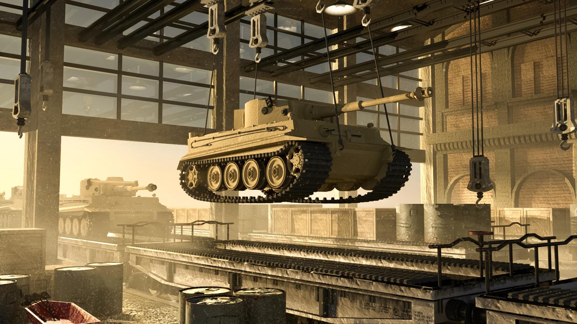 artstation henschel tiger tank factory wu gene hong. Black Bedroom Furniture Sets. Home Design Ideas