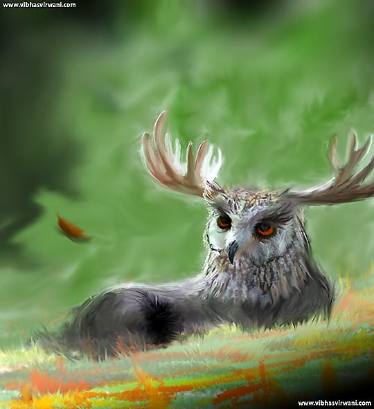 Vibhas virwani owl moose hybrid speedpaint vibhas virwani