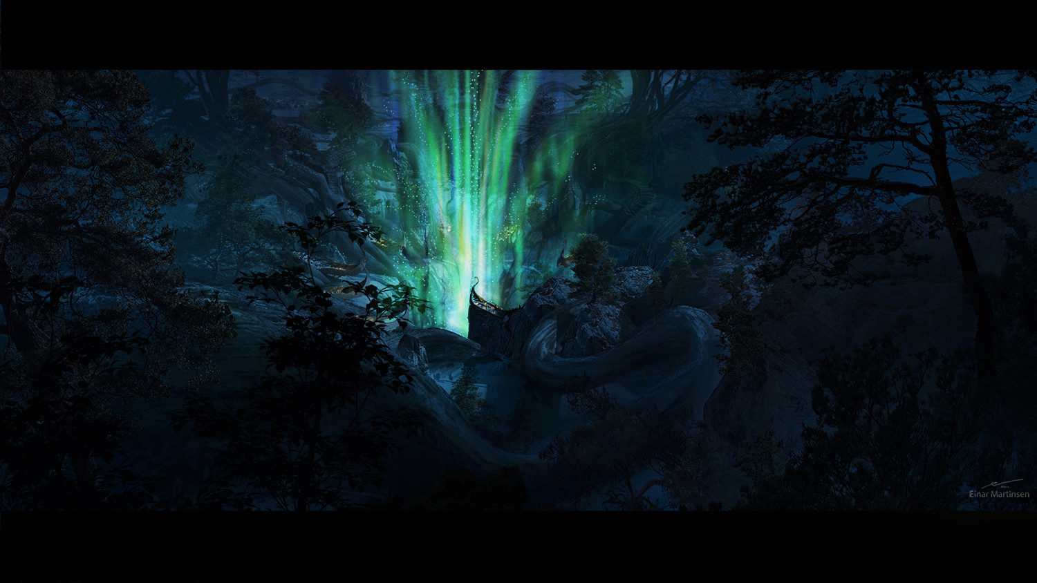 Production design course with Dylan Cole - Artwork by Einar Martinsen - Sacred place, shot 05