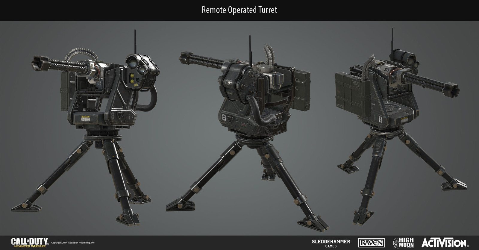 Multiplayer Remote Sentry scorestreak with weapon and tripod housing.
