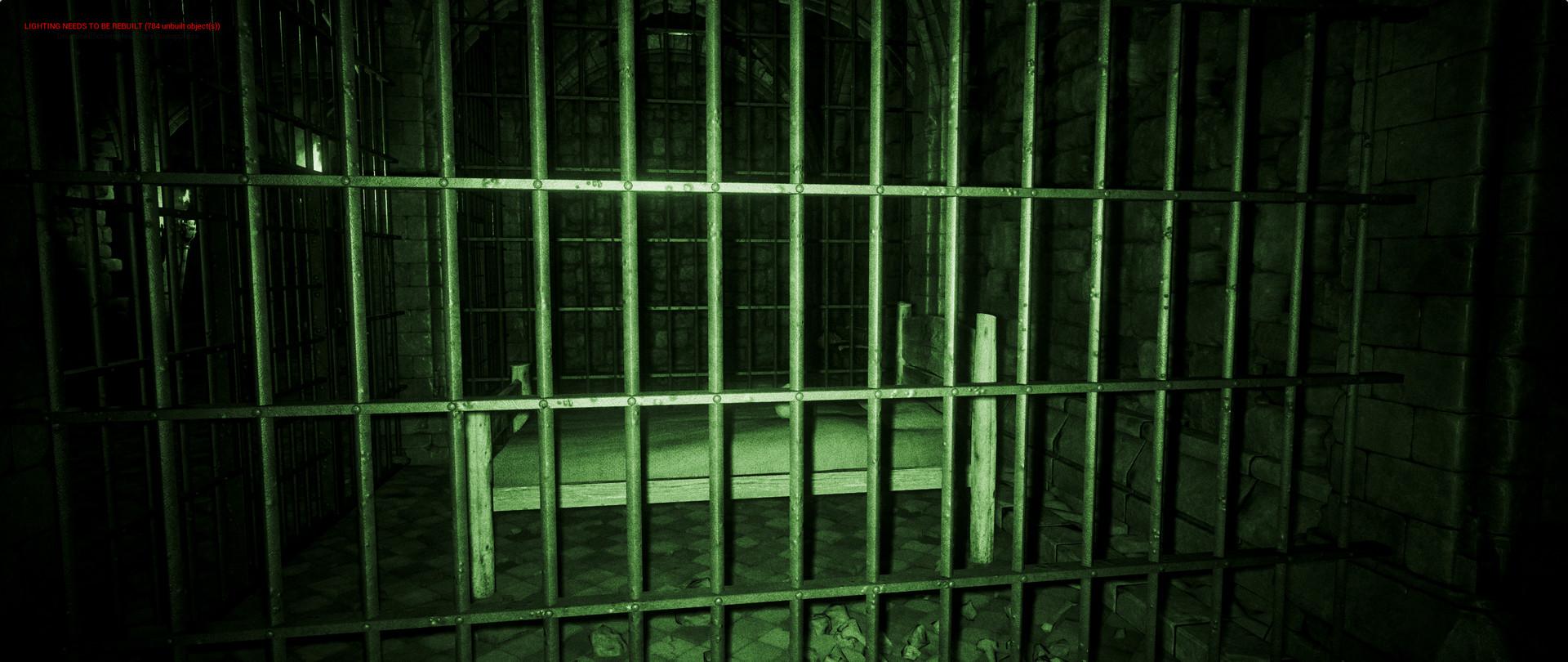 ArtStation - UE4 Night Vision Medieval Prison, Luciano Jacomeli