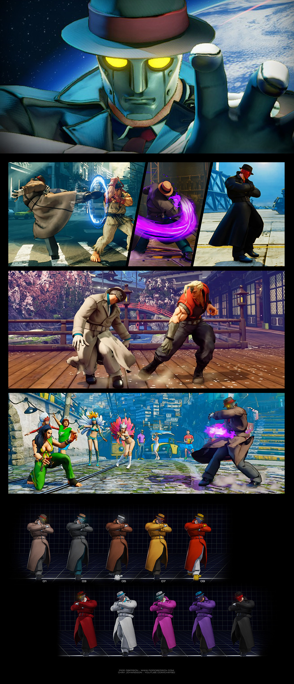 ArtStation - Street Fighter V mod - Q, Pior Oberson