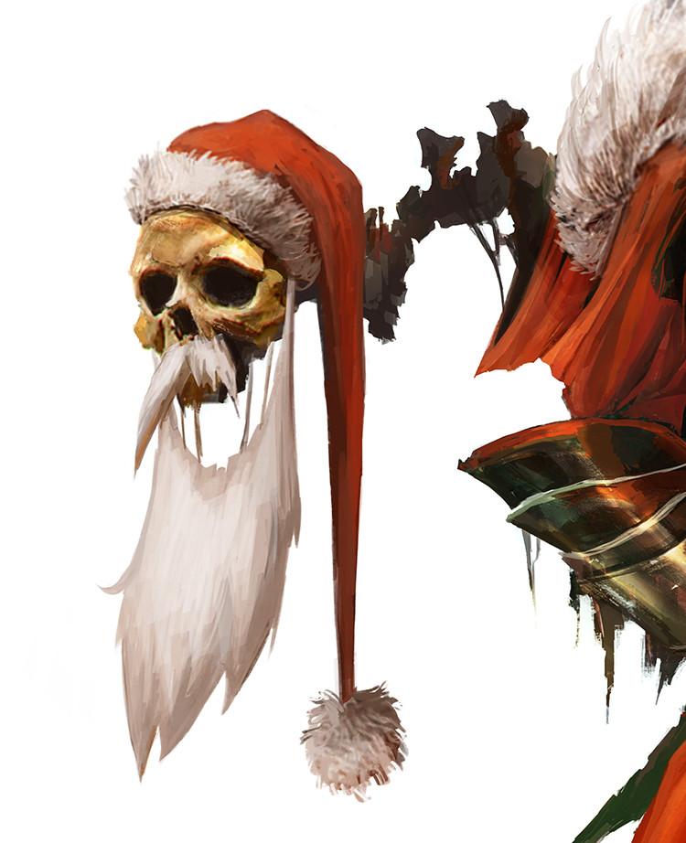 Christmas Skeleton.Artstation Merry Christmas Skeleton Claus Alexandre