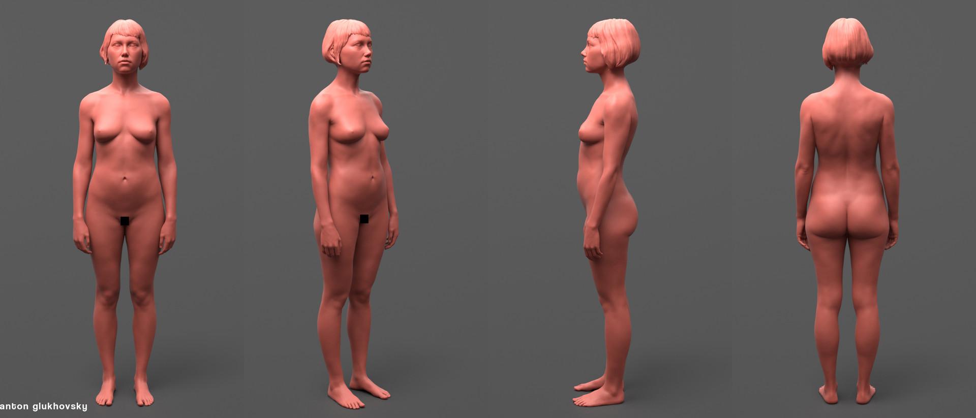 ArtStation - Female anatomy study (finished), Anton Glukhovsky