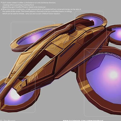 Vibhas virwani sc fi phoenix vehicle spaceship concept art by vibhas virwani 1