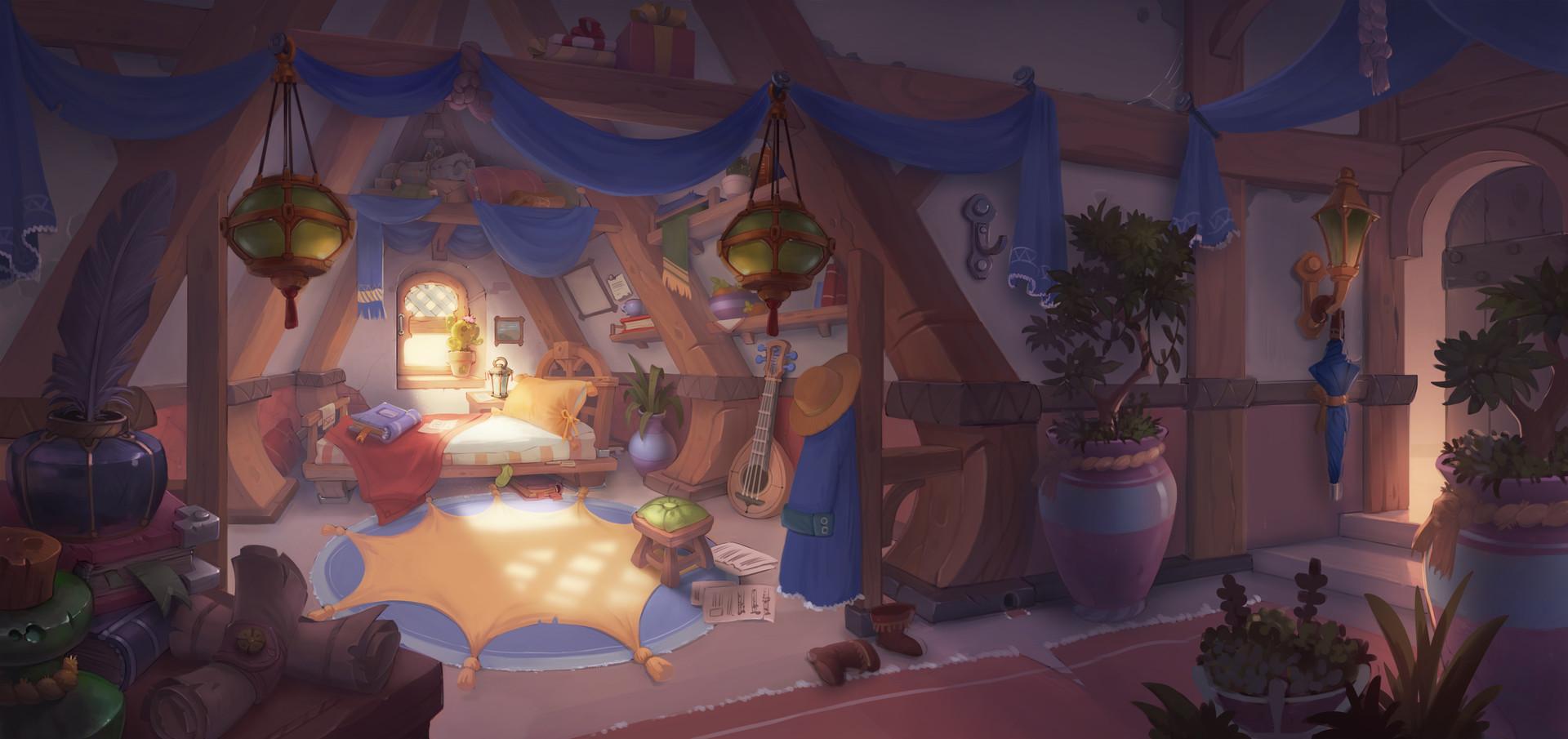 Artstation Fantasy Room Concept Anna Lepeshkina
