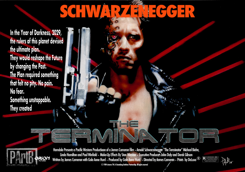 Paul Butcher The Terminator 1984 Movie Poster Recreation