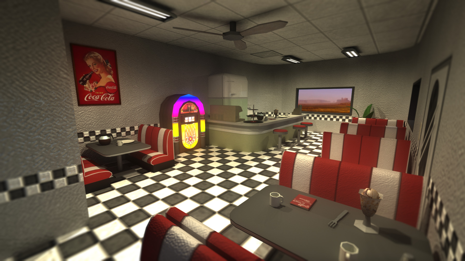 Lewis Ward 70 S Diner Low Poly