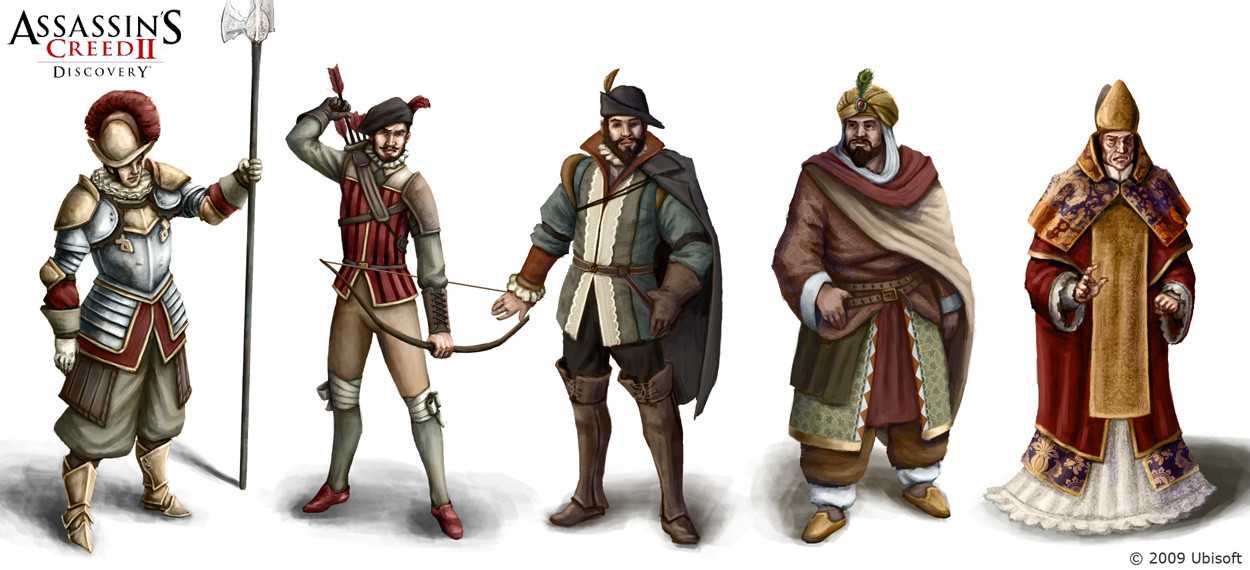 Assassin's Creed II: Discovery character concepts