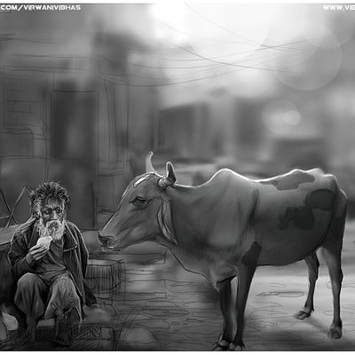 Vibhas virwani an old friend speed painting by vibhas virwani