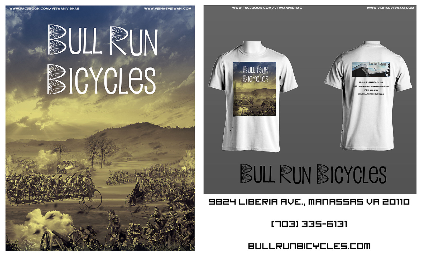 Bull Run Bicycles promotional illustration