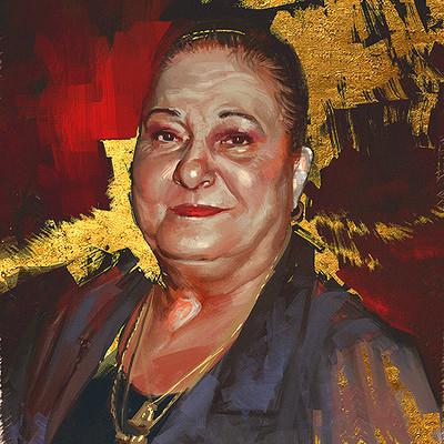 Ibrahem swaid portrait paint 02s