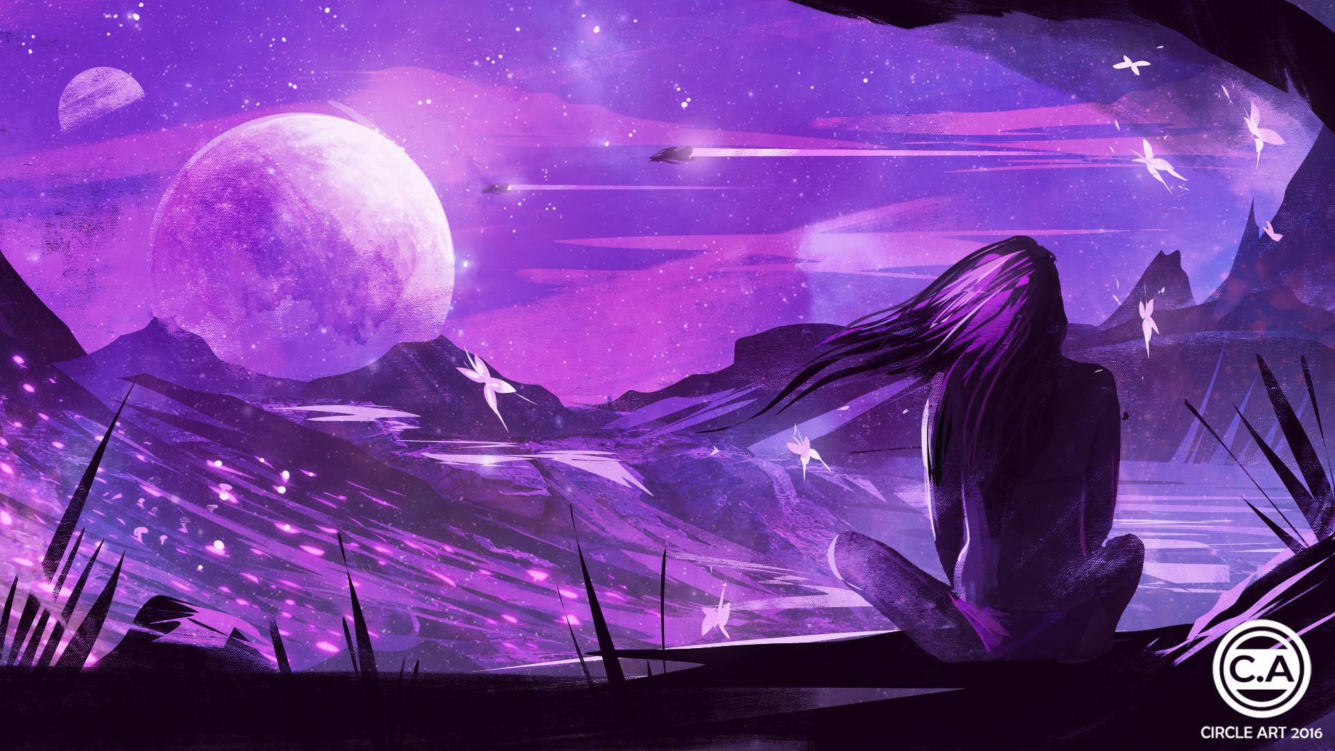 картинки фиолетовые арт интерьере