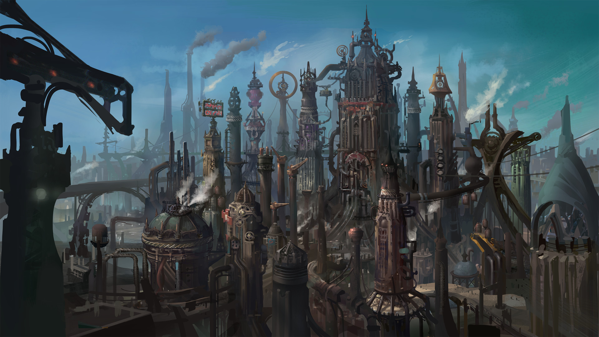 steampunk city names - HD 1920×1080