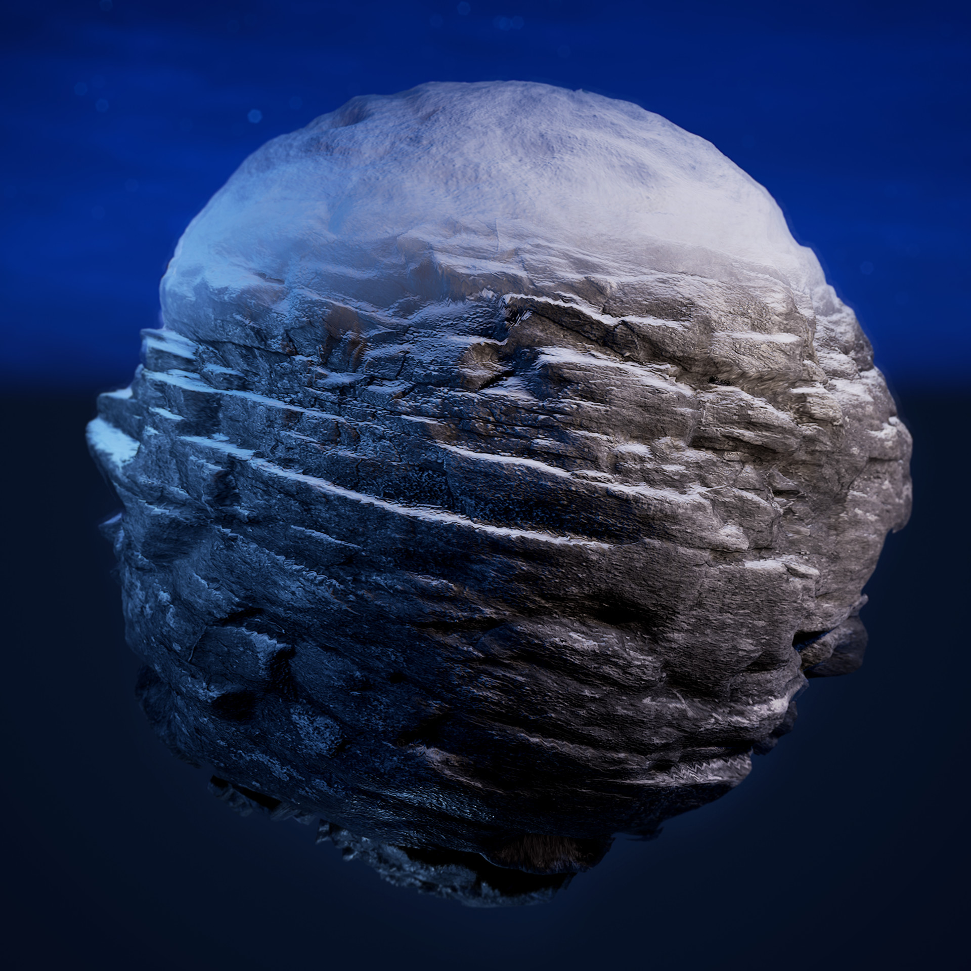 Artstation Ue4 Dynamic Snow And Rock Material