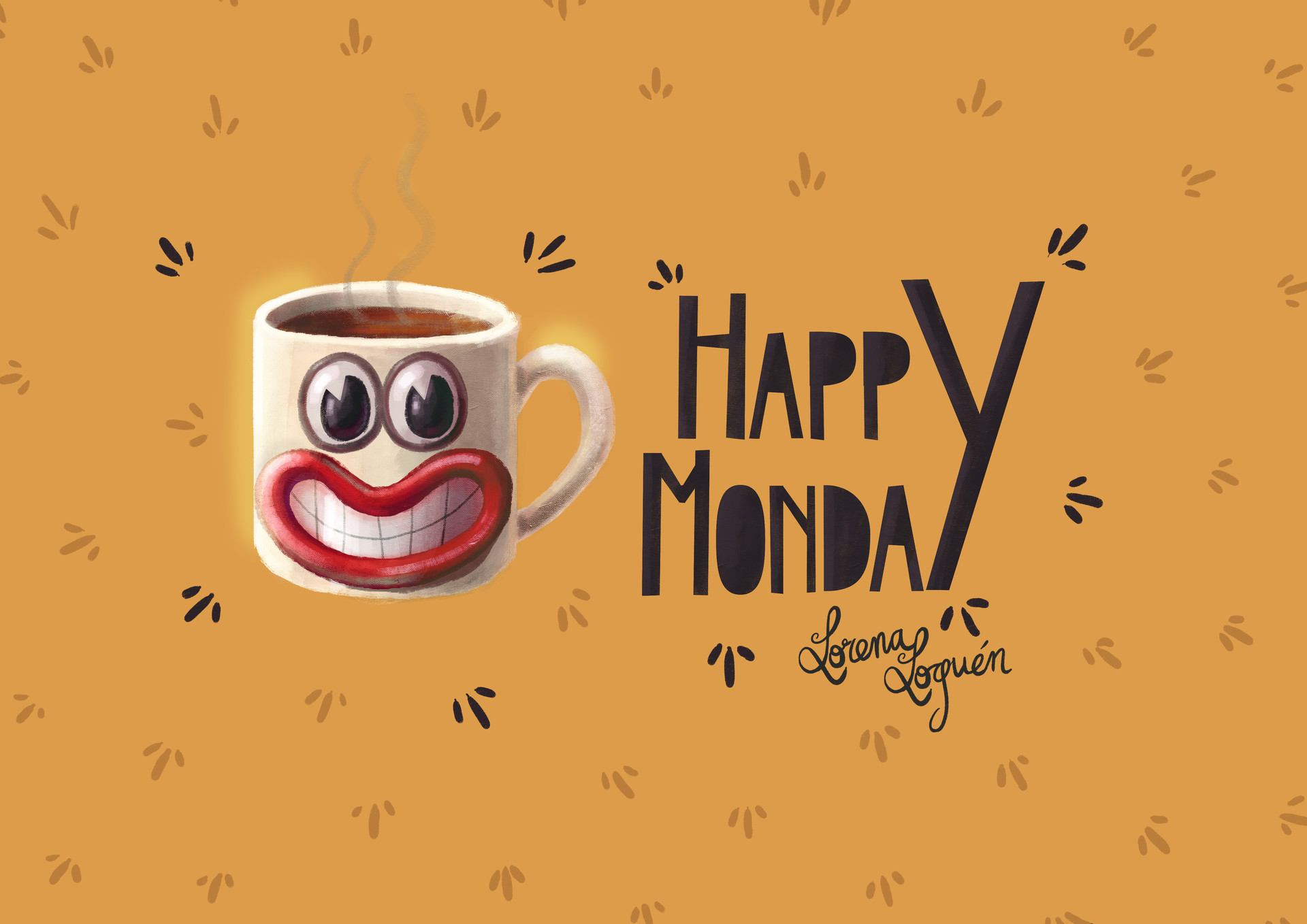 Lorena loguen happy monday mug by lorena loguen 03