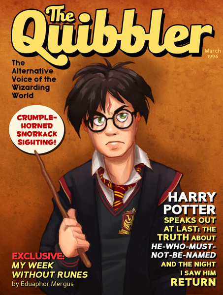 Michael dashow luna lovegood quibbler cover