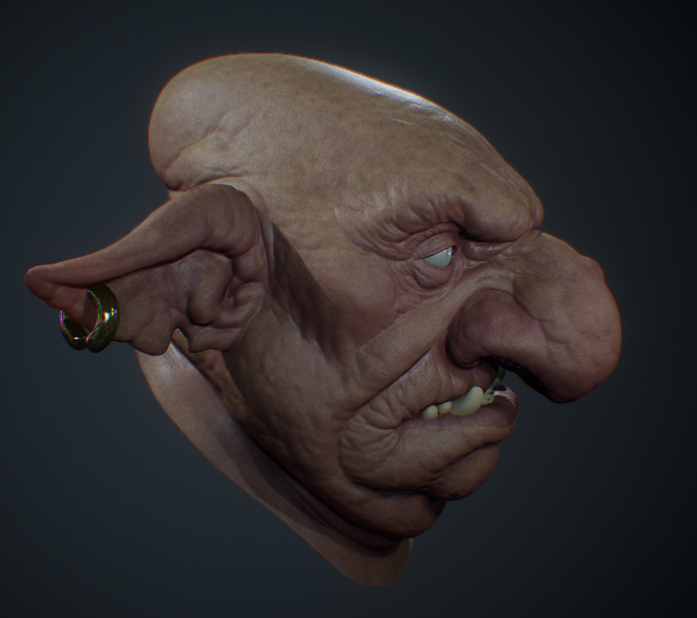 Starting texture tests using Substance and Marmoset.