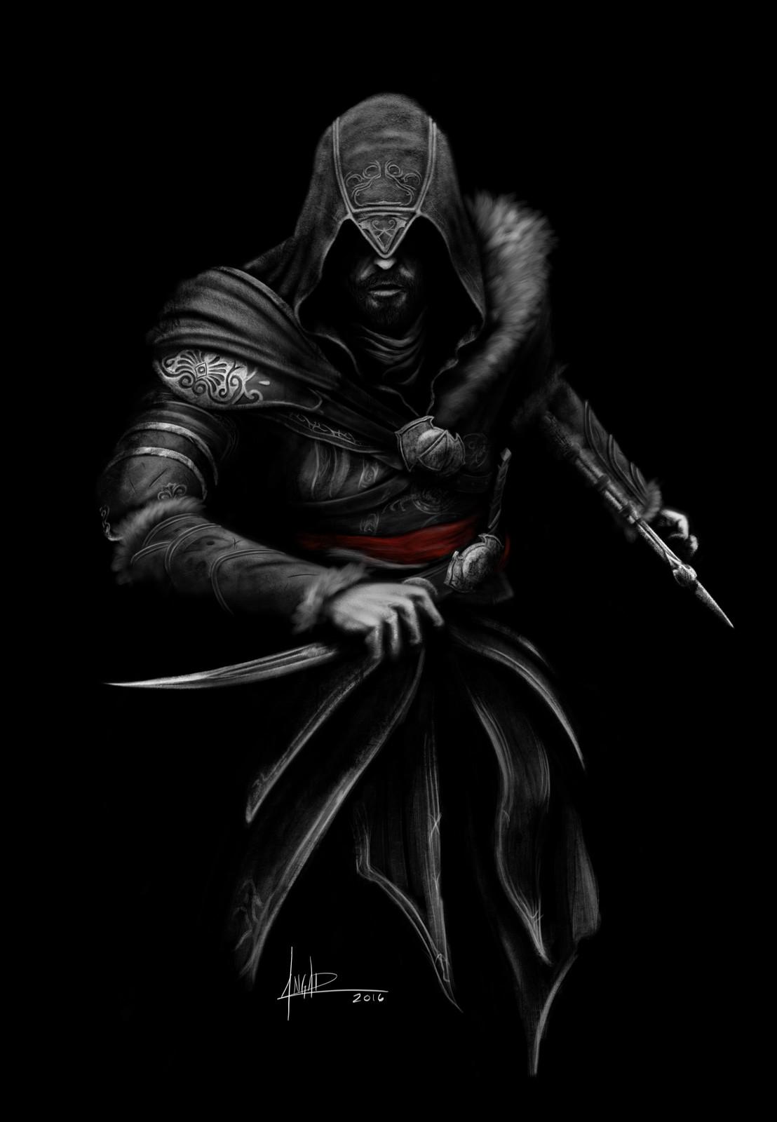 Ezio... Assassin's Creed fan art.
