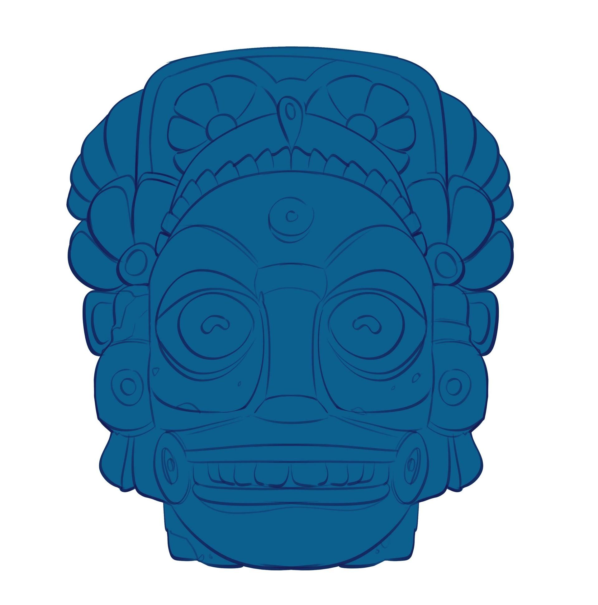 Sahil trivedi mayan sculpture2