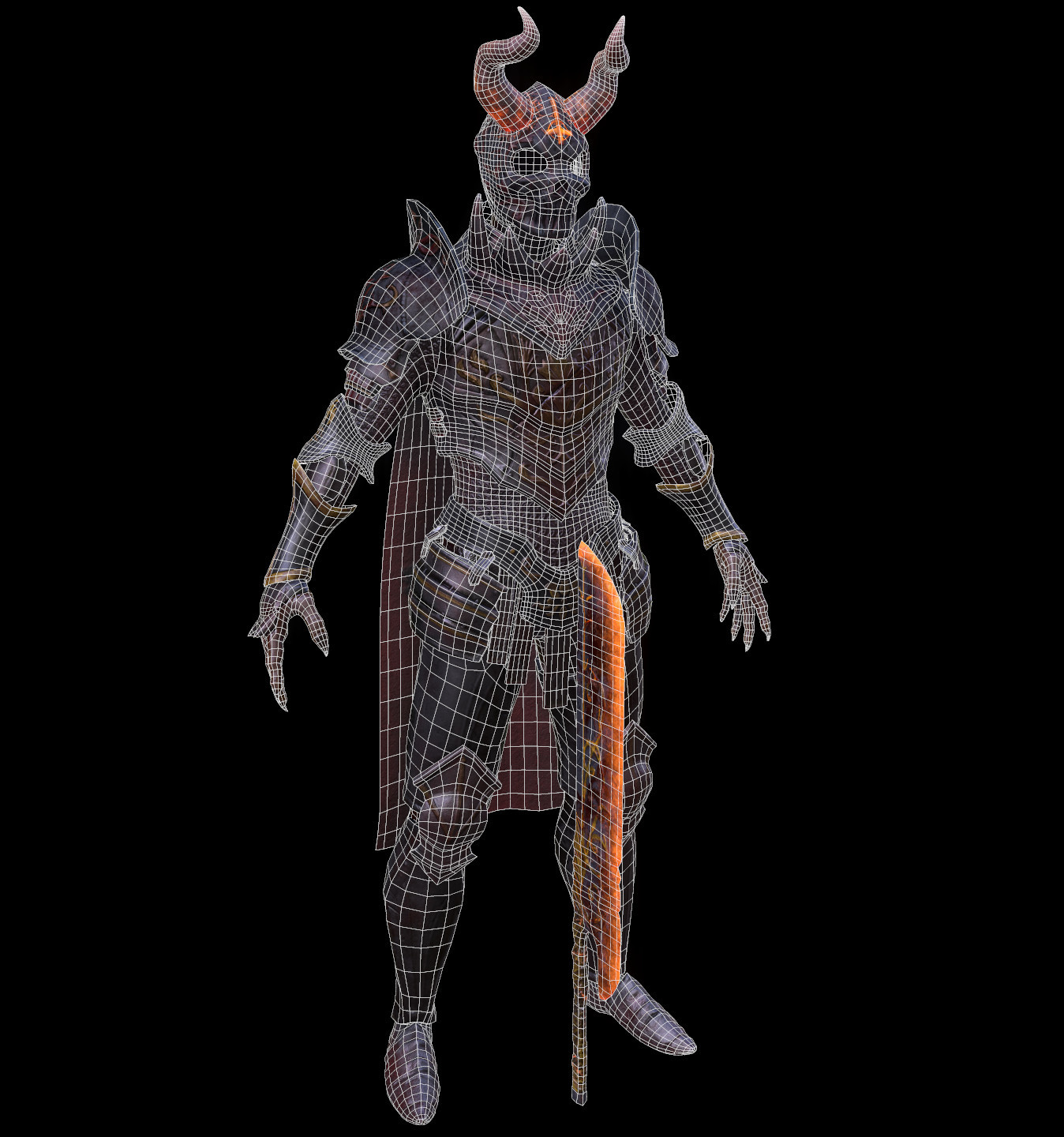 Wireframe A Pose