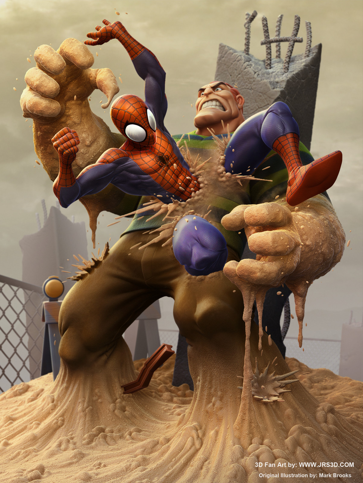Spiderman Vs Sandman_FanArt
