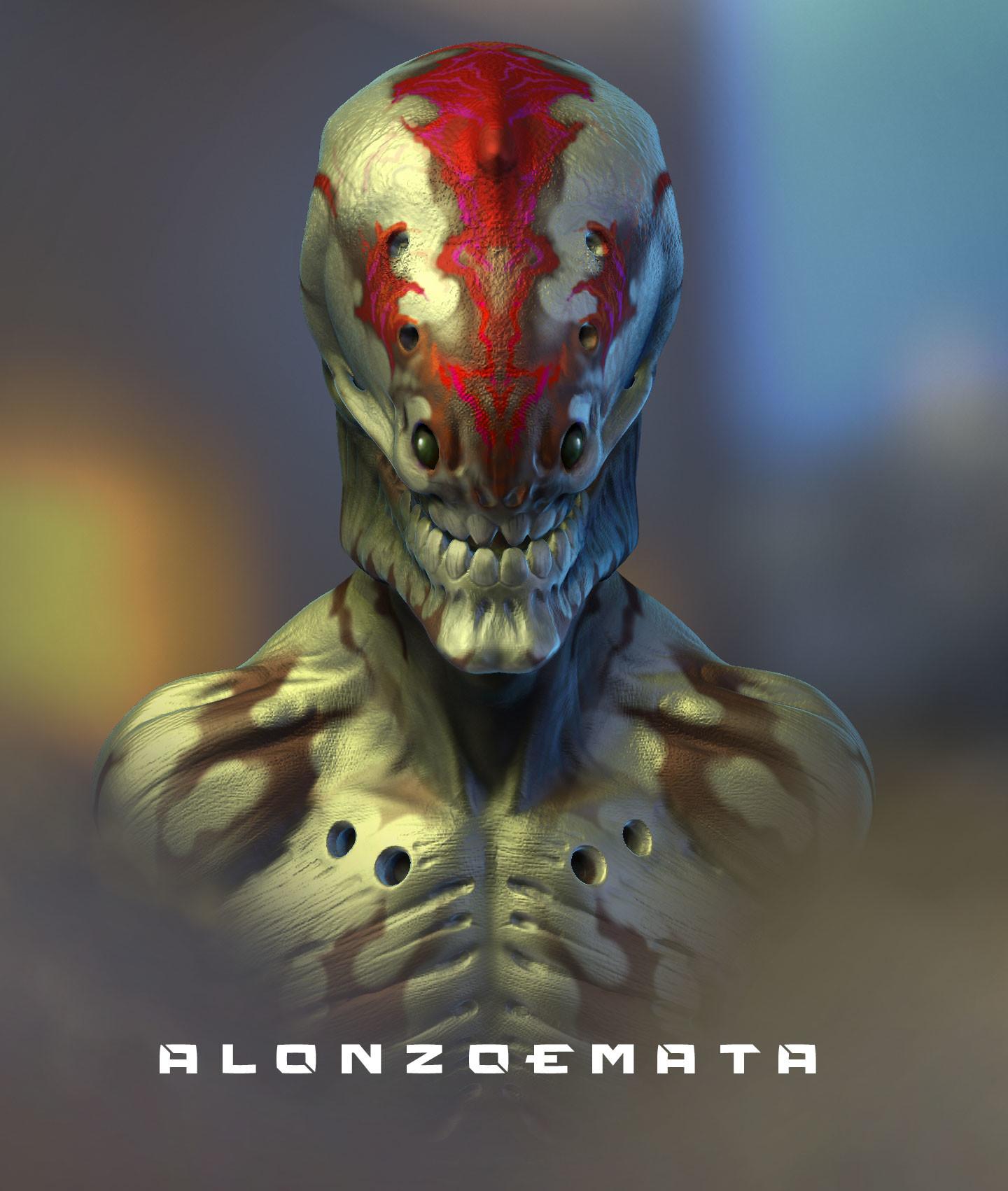 Alonzo emata alien skull
