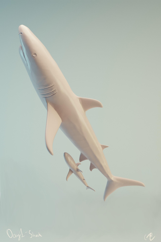 #SculptJanuary Day 1 - Shark
