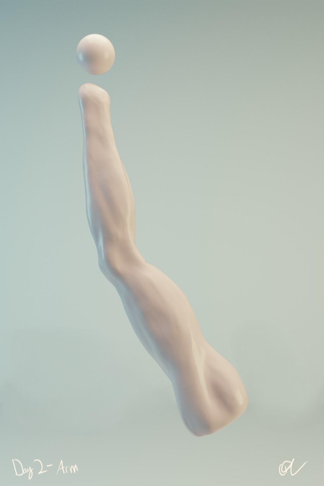 #SculptJanuary Day 2 - Arm