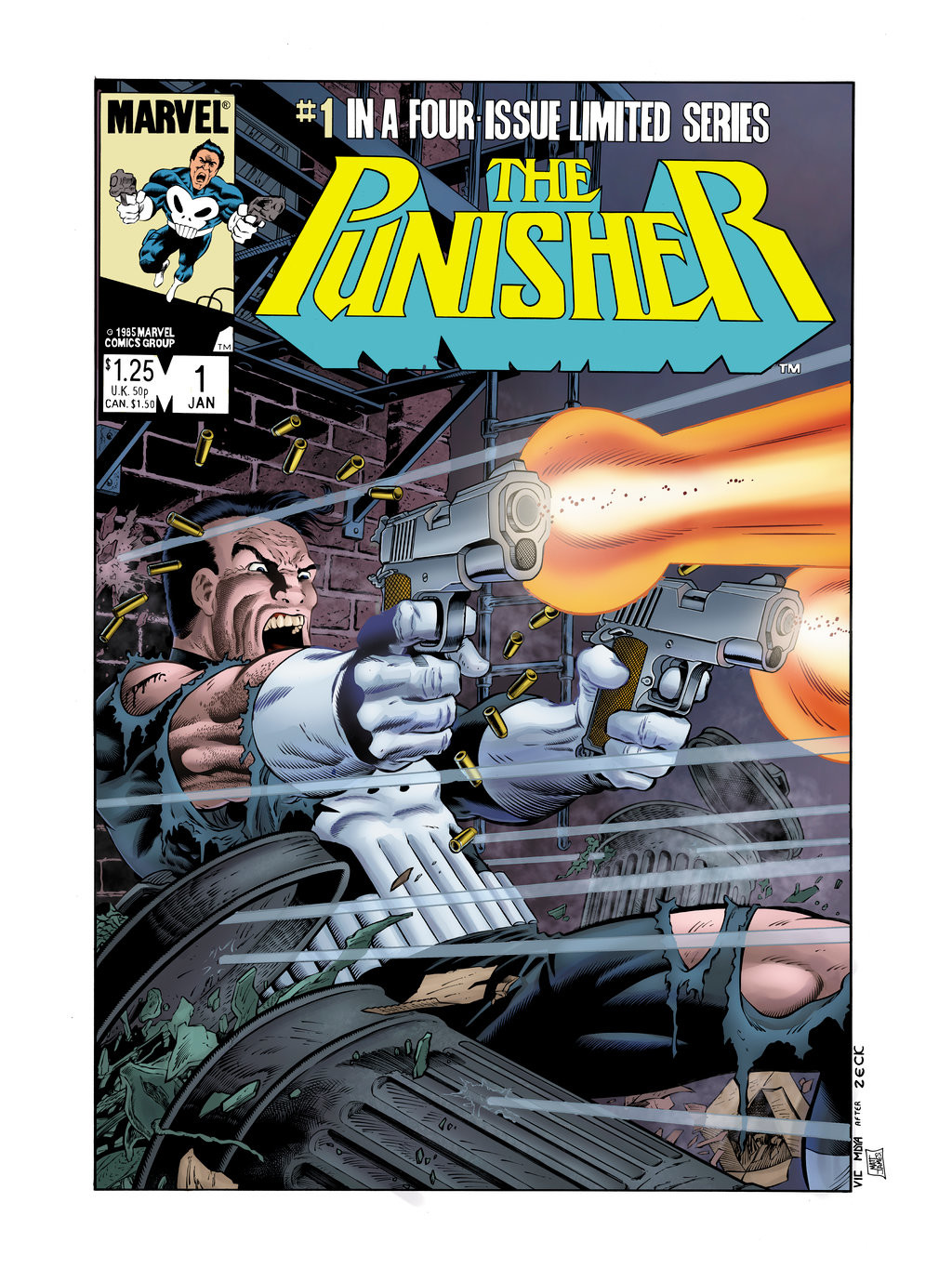 Re-Creation of Mike Zeck's Punisher Issue 1 Cover (Colours, 2016)