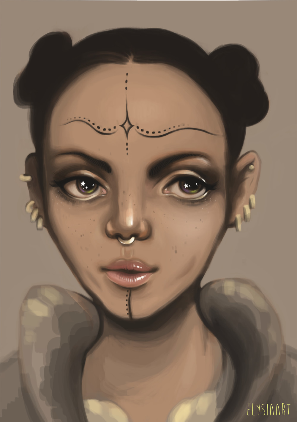 Painting of FKA Twigs.