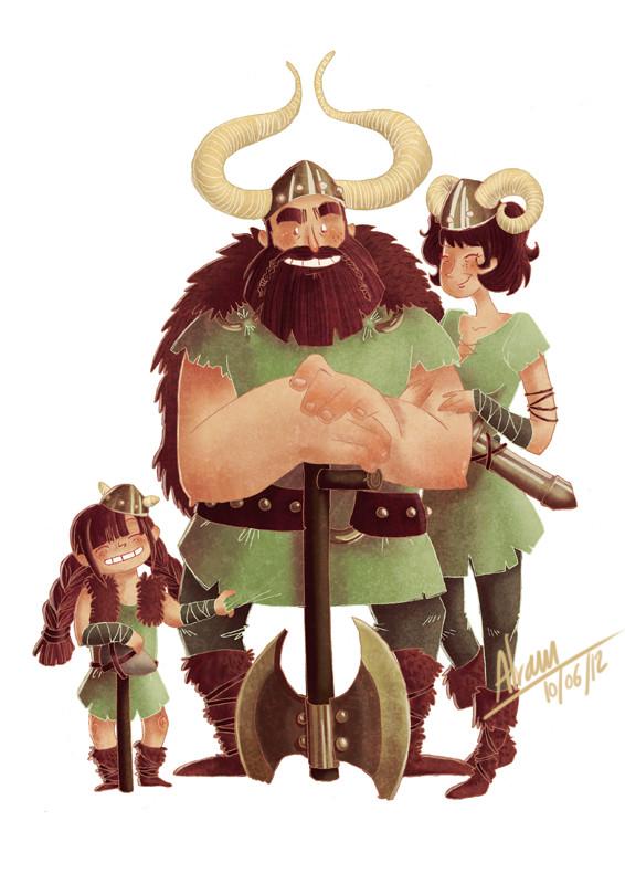 ArtStation - Viking Family, Alraun Illustrations