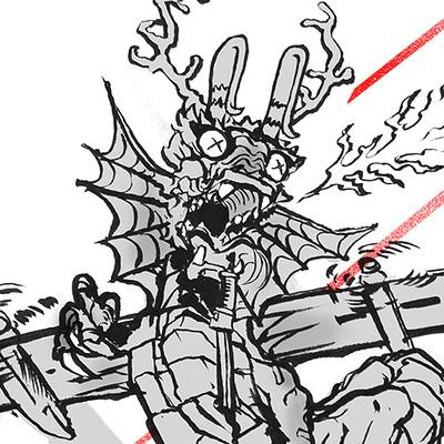 Rumblevolt dragon doodle