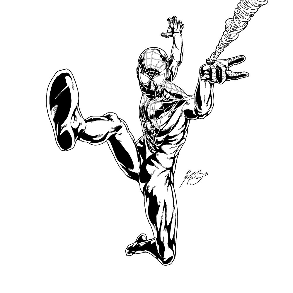 Miles Morales Spiderman Coloring Pages Wwwpicturesbosscom