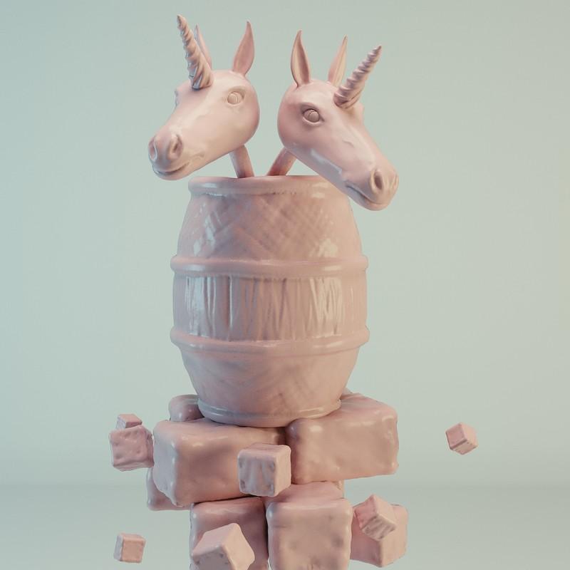 #SculptJanuary Day 7 - Unicorn