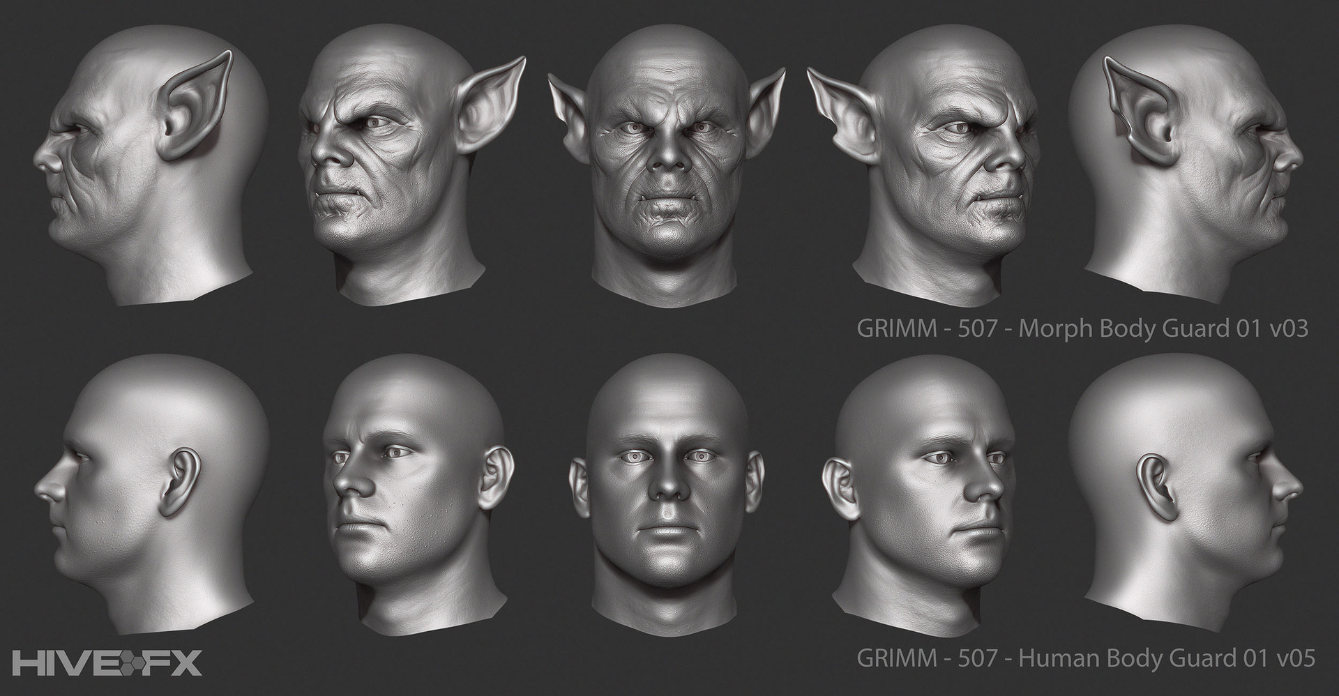 Eric blondin grimm 507 human and morph body guard 01 v05