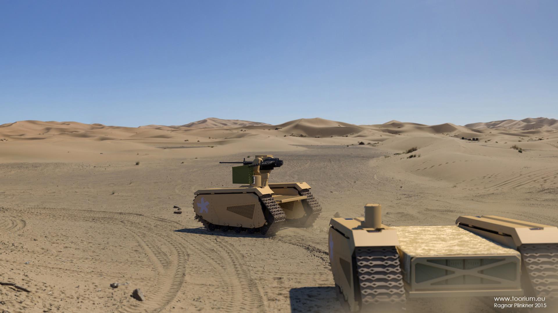Ragnar plinkner ugv military desert scene