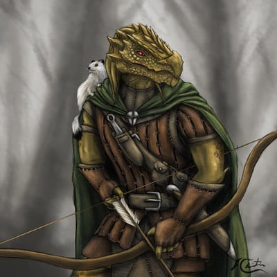 Christian hadfield dnd dragonborn ranger by christian hadfield