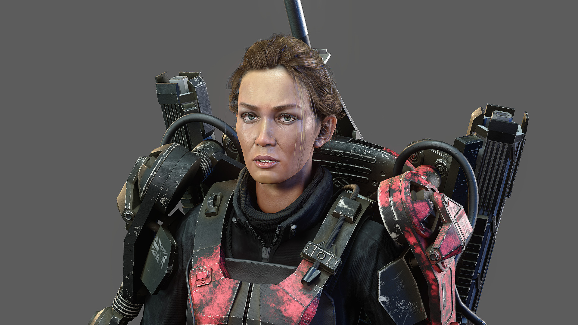 Artstation Edge Of Tomorrow Real Time Emily Blunt Exo Suit Wip