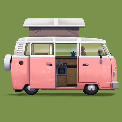 Isaac orloff pink camper