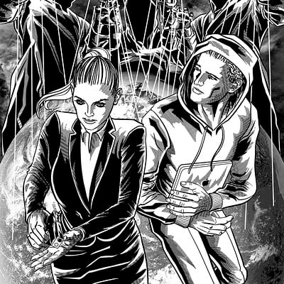 Diego mendes now graphic novel guardians of darkness 001 cover black and white diego mendes