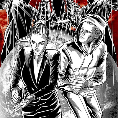Diego mendes now graphic novel guardians of darkness 001 cover black white and red diego mendes