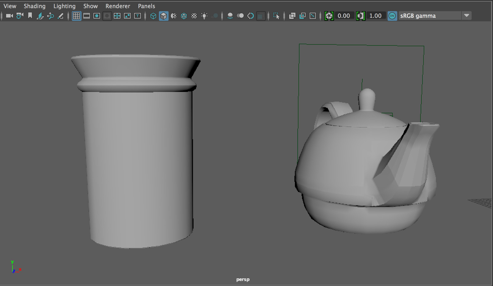 blockout jar and teapot